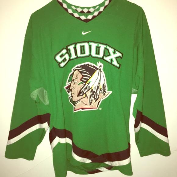 best loved ccdd2 07414 Nike/Bauer Rare North Dakota Sioux Hockey Jersey